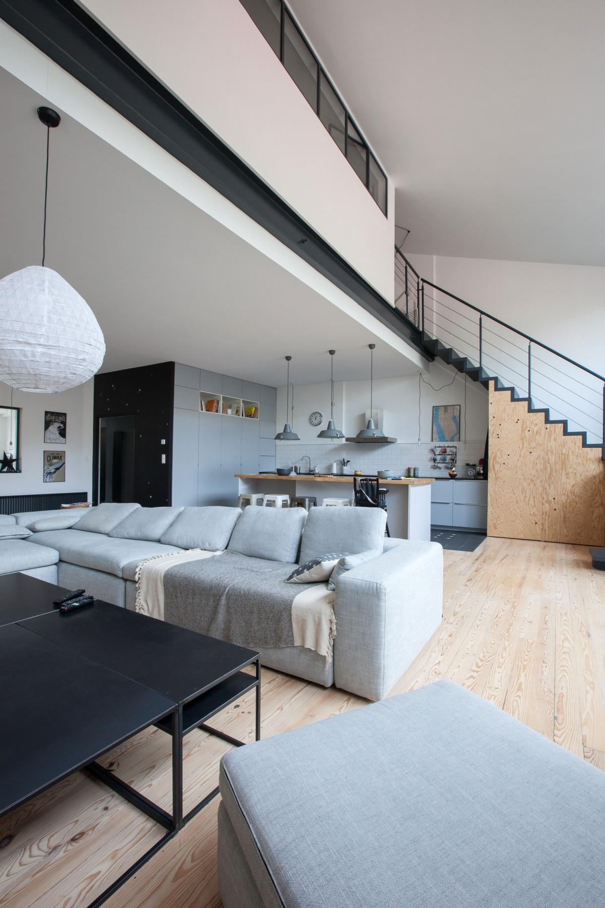 Maison P : Vue cuisine séjour