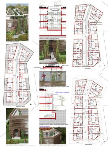 Immeuble d'habitation de 34 logements collectifs : avra_logements collectifs_floirac_planche3 A42