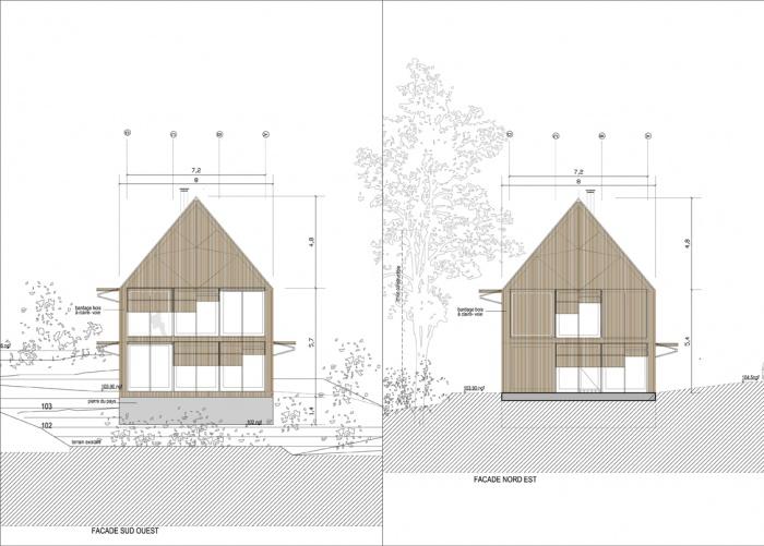 maison individuelle en Dordogne : Façades