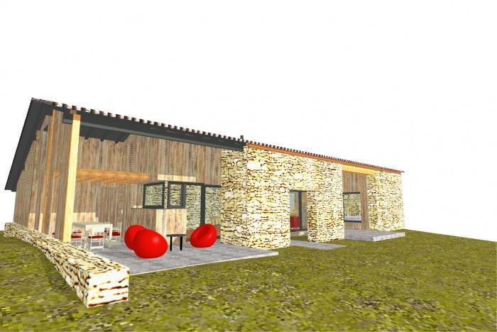 Tranformation d'une grange en maison individuelle