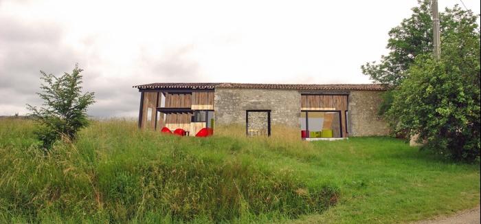 Tranformation d'une grange en maison individuelle : 097 pers PC01