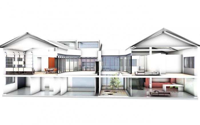 loft store transformation d 39 anciens bureaux en 2 lofts. Black Bedroom Furniture Sets. Home Design Ideas