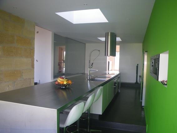 Rénovation d'une maison d'habitation : Cuisine après travaux