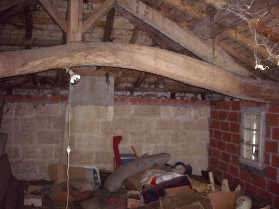 Rénovation d'une maison d'habitation : Etage avant travaux