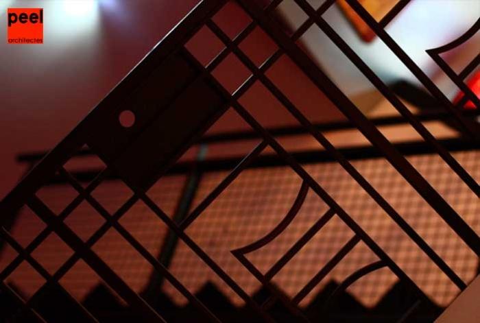 Loft Noir et Blanc : détail de l'ancienne porte