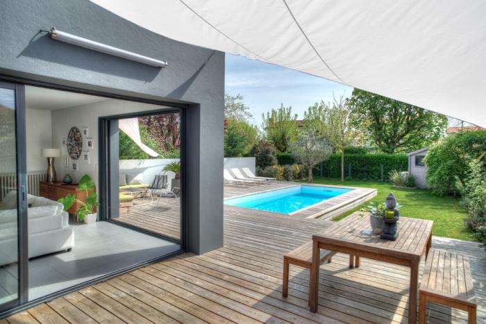 Extension et réhabilitation d'une maison 1930 : terrasse