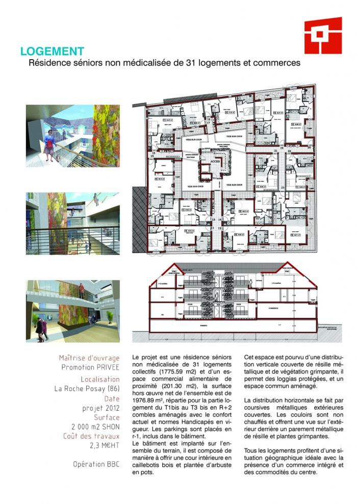 Résidence Seniors non médicalisée de 31 logements collectifs et d'un espace commercial