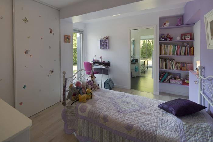 Extension d'une maison d'habitation et aménagements extérieurs : extension chambre existante
