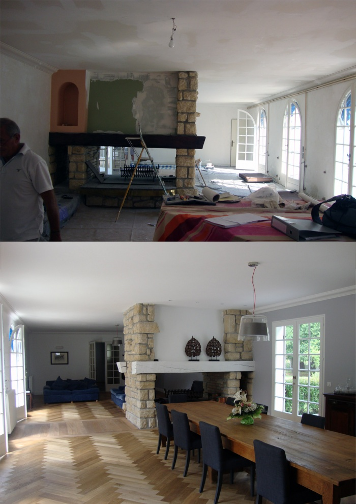 Rénovation compléte d'une maison : salon