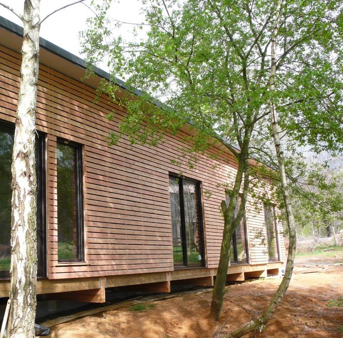 Maison individuelle à ossature bois BBC : Facade Sud 2