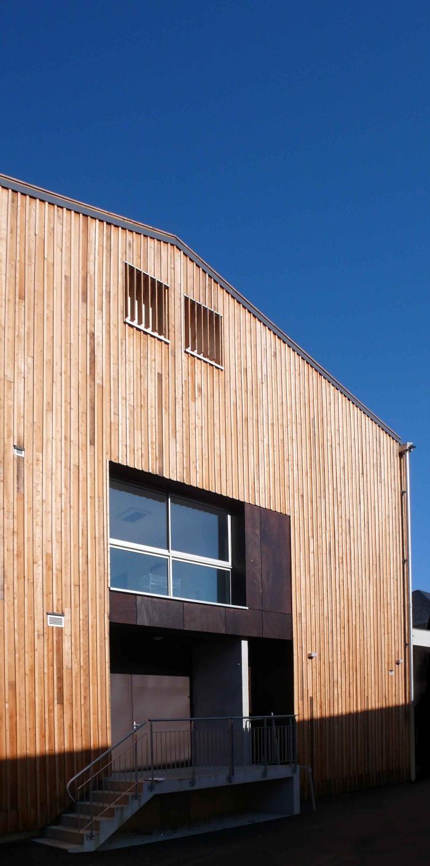 Réhabilitation des thermes d'Encausse en lieu de résidence pour les arts publics : 03façade SUD