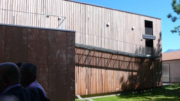 Réhabilitation des thermes d'Encausse en lieu de résidence pour les arts publics : 08Façade OUEST 02