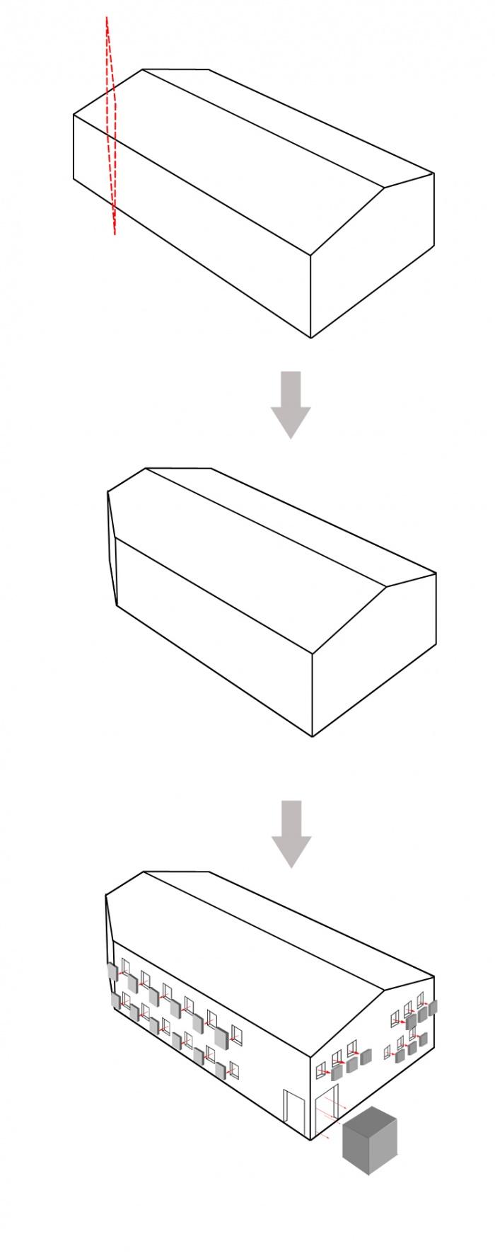 Bureaux Spatiale : 3D schémas