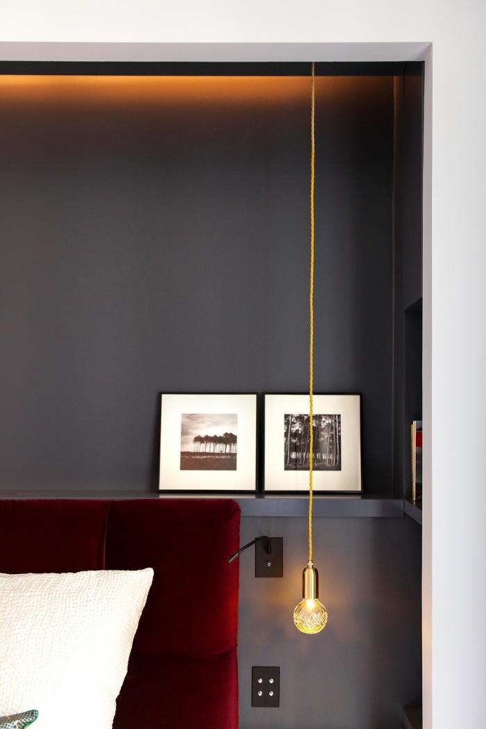 Appartement Parisien : master bedroom