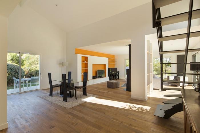 Extension et réaménagement d'une maison d'habitation : vue intérieure 2