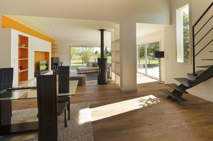 Extension et réaménagement d'une maison d'habitation : vue intérieure 3