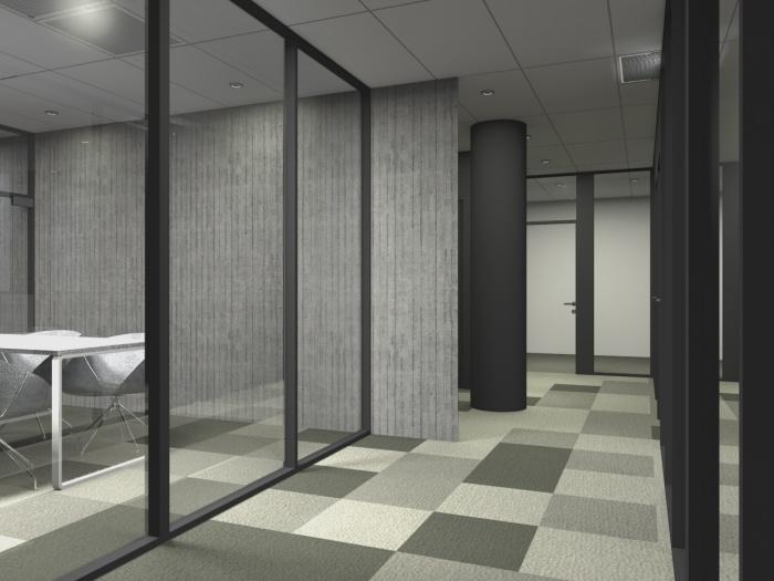 Réaménagement d'un plateau de bureaux seventies à Bordeaux 2017 : v 3