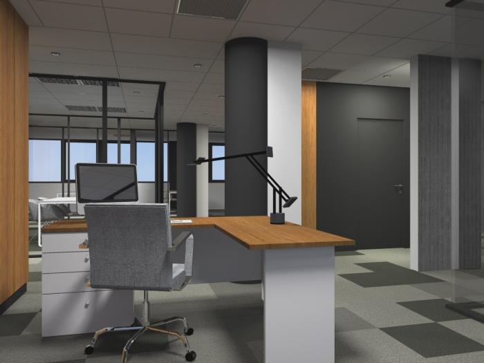 Réaménagement d'un plateau de bureaux seventies à Bordeaux 2017 : v 5