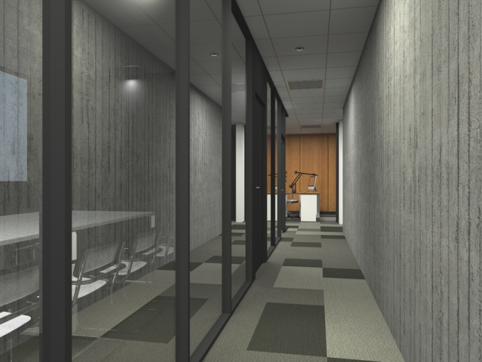 Réaménagement d'un plateau de bureaux seventies à Bordeaux 2017 : v 8